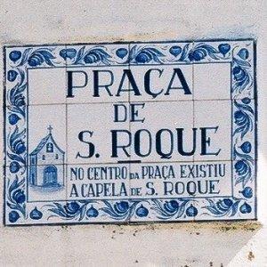 Placa toponímica da Capela de São Roque